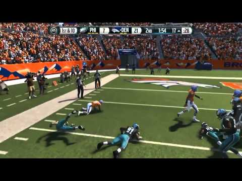 Football-NFL-Madden 15 :: Peyton Manning Throwing Dots :: Broncos Vs. Eagles - Online Gameplay