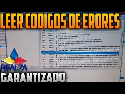 LEER CODIGO DE ERROR EN IMPRESORA EPSON