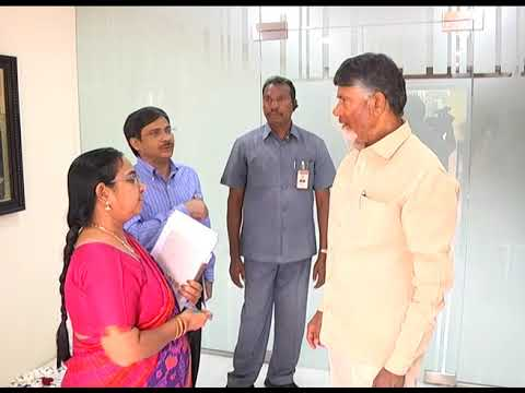 SMT  POONAM MALAKONDIAH, IAS MET AP CM AND DISCUSSED ABOUT SWINE FLU AT RESIDENCE ON 02112018