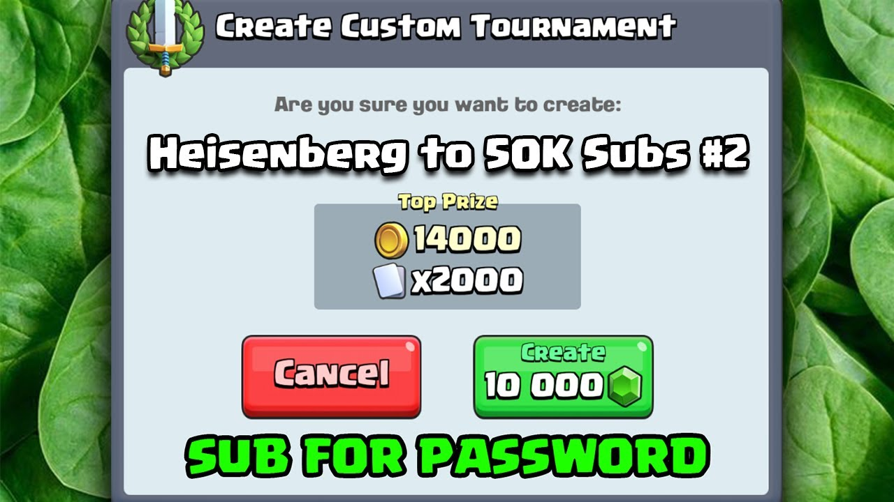 FREE 10000 GEMS TOURNEY - Heisenberg to 50K Subs #2