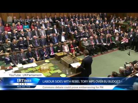 Labour sides with rebel Tory MPs over EU budget