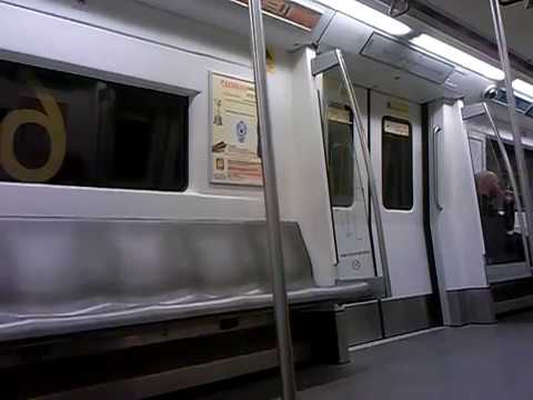 INSIDE THE DELHI METRO TRAIN