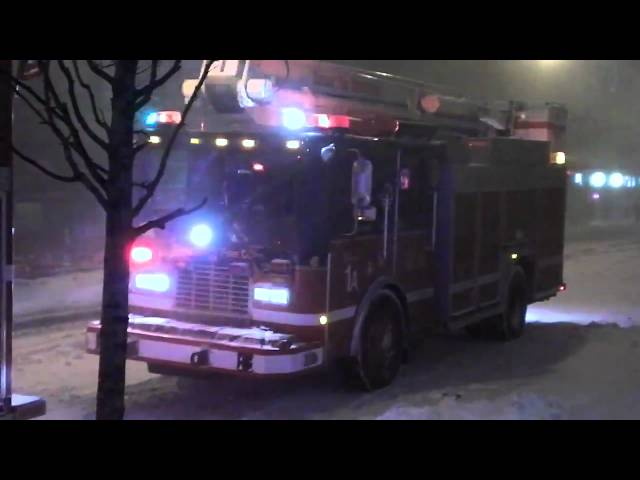 Chicago Blizzard of 2011: CFD 1st Battallion - High Rise Response
