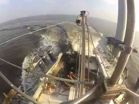 Bunker fishing purse seineing New Jersey 2014