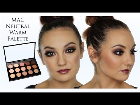 Autumnal / Fall MakeUp Tutorial Using MAC Neutral Warm Palette