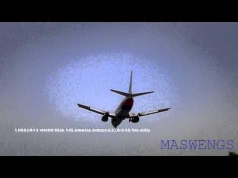 Windy Malaysia Airlines Boeing 737 4H6 Landing 15082013 WMKK KLIA 14L
