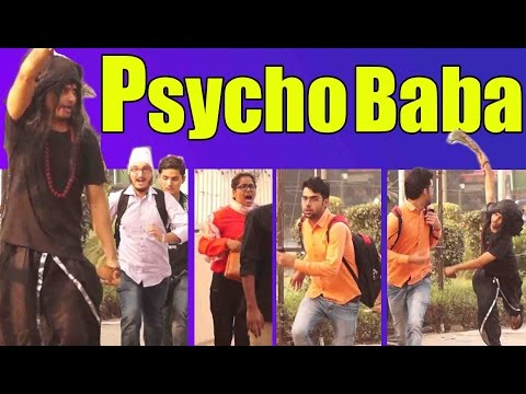 PSYCHO baba Attacking Prank | Scare Pranks in India 2016 | Unglibaaz | Feat. ANB Team