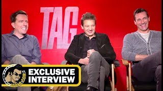 Jeremy Renner, Ed Helms & Jon Hamm TAG Interviews! (2018) JoBlo.com Exclusive