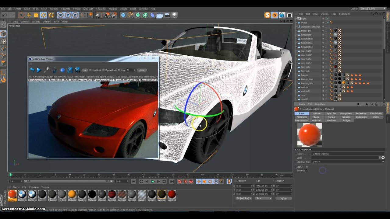 3D Animation Modeling - Car