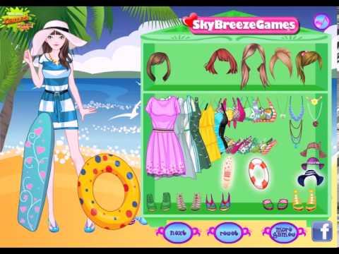 barbie dress up game in the beach dress up video games for girls jeux de fille juegos gratis. Black Bedroom Furniture Sets. Home Design Ideas