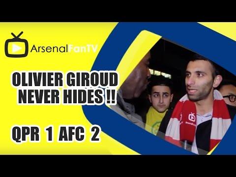 Olivier Giroud Never Hides !! - QPR 1 Arsenal 2