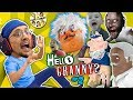 HELLO GRANNY in our HOUSE!!! FGTEEV ❤️s GRANNY BABE! Hello Neighbor Grannys House Mod Game #2