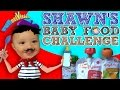 Shawn's BABY FOOD Challenge!  Baby's First Time Trying! (FUNn...