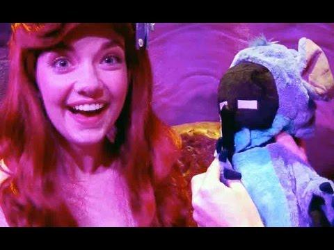 Enderwoman meets Princess Ariel Under The Sea at Walt Disney Worlds Magic Kingdom