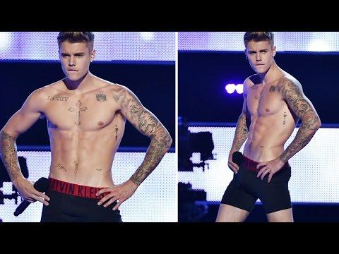 Justin Bieber Strips Down On Stage To His Underwear