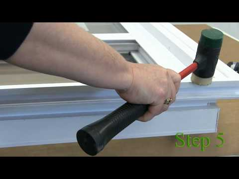 Install Brickmold and Remove the cap for installation on a vinyl window
