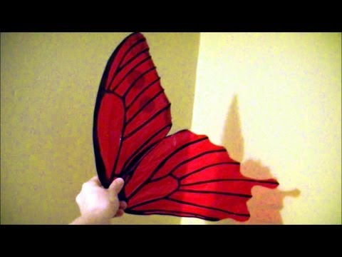 Make $10 Cellophane Fairy Wings  No Wire, Safe For Kids, Patterns Included.