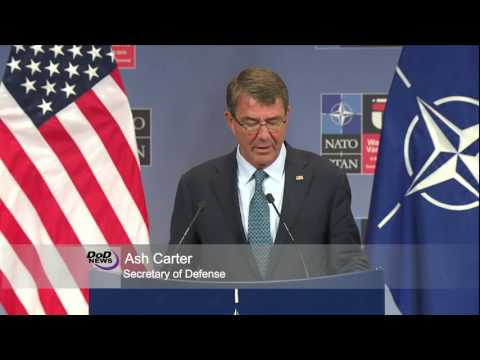 Carter Outlines NATO Issues in Brussels