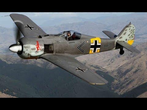 Истребитель Фокке Вульф FW 190 опасный 'Самолеты Германии', 1941 1945 История авиации, 7 й фильм