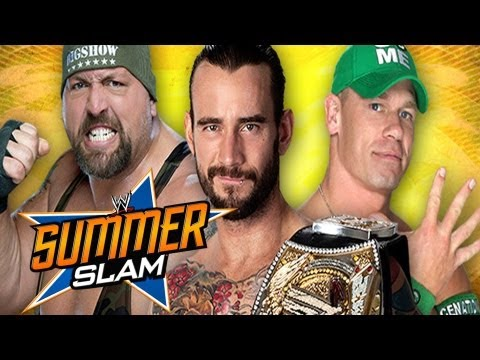 WWE SummerSlam 2012 - CM Punk vs. John Cena vs. The Big Show WWE Title Full Match Prediction