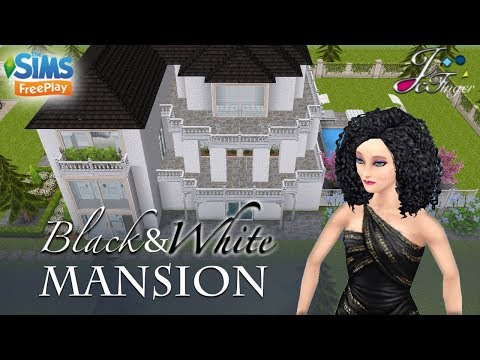 The Sims FreePlay 🔲🔳🔲| BLACK AND WHITE MANSION | By Joy.