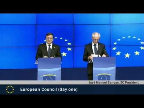 Jose Manuel Barroso at Spring European Council Highlights Day 1