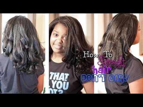 How To   Straighten Natural Hair