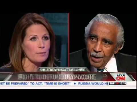 Michele Bachmann VS Charlie Rangel on Obamacare - Crossfire -  CNN - 9/19/13