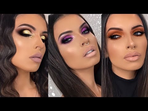 3 LOOKS 1 PALETTE USING TOO FACED CHOCOLATE GOLD PALETTE