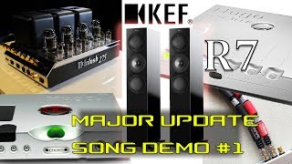 KEF R7 speakers REVIEW MAJOR UPDATE Chord Hugo M Scaler Wave High Fidelity McIntosh Hugo TT 2
