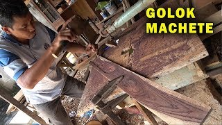 Making Golok Machete Handles and Sheaths in Central Java