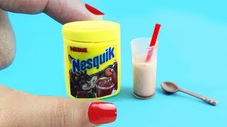 DIY MINIATURE NESQUIK - with real chocolate powder inside!!!