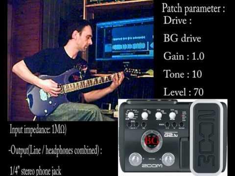 Dimebag Darrell 's tone / Zoom G2.1u patch
