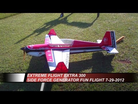 Extreme Flight Extra 300 - DLE 30cc - Side Force Generator Fun Flight 7-29-2012