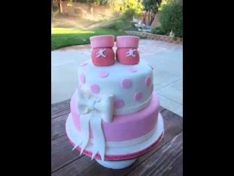 Baby shower cake decorating ideas youtube for Baby footprints cake decoration