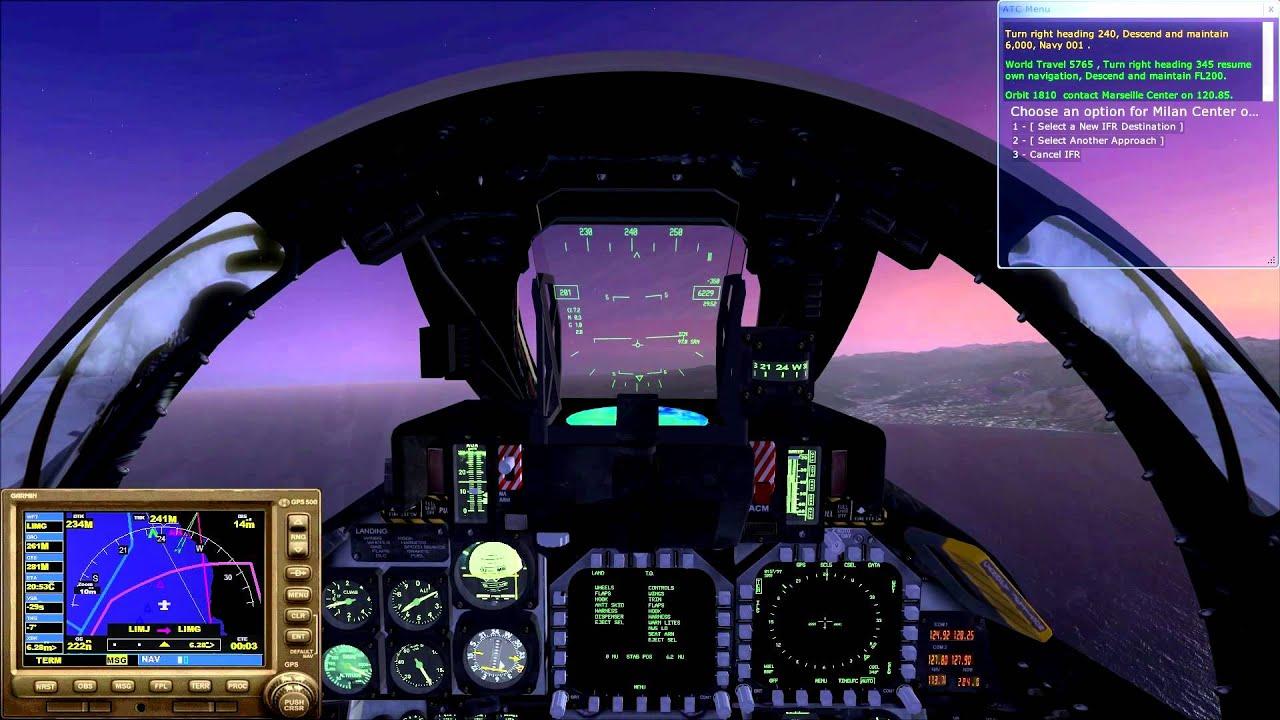 F 14 Tomcat Cockpit [HD] FSX - Grumman F-1...