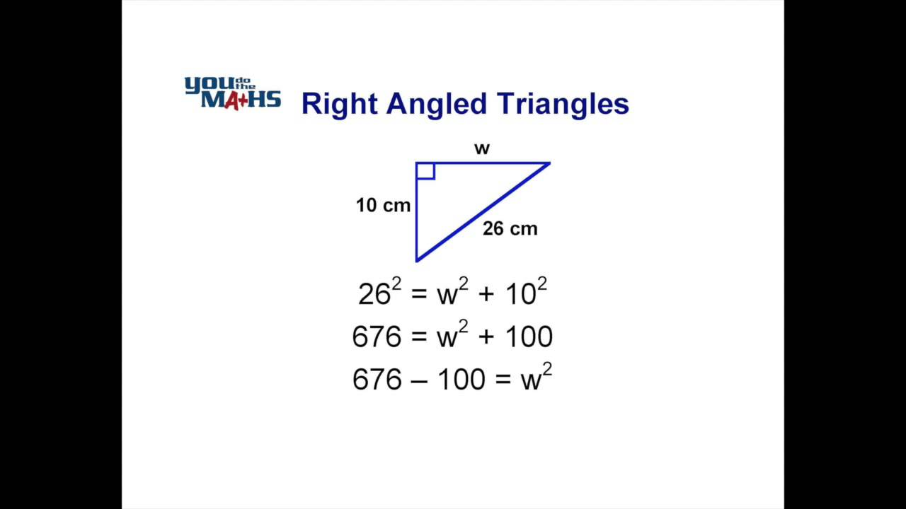 pythagoras theorem how to find the shorter side