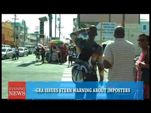 GRA ISSUES STERN WARNING ABOUT IMPOSTERS  1 19 2018