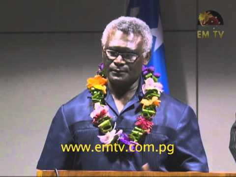 Solomon Islands Prime Minister Visits PNG