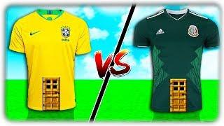 CASA BRASIL vs CASA MÉXICO NO MINECRAFT !!