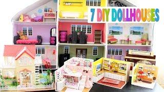🏠 7 DIY Miniature Dollhouses Tour - Villa, Shoebox Dollhouse, Girl Rooms, etc