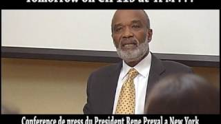 Money Question To The President Of Haiti Rene Preval