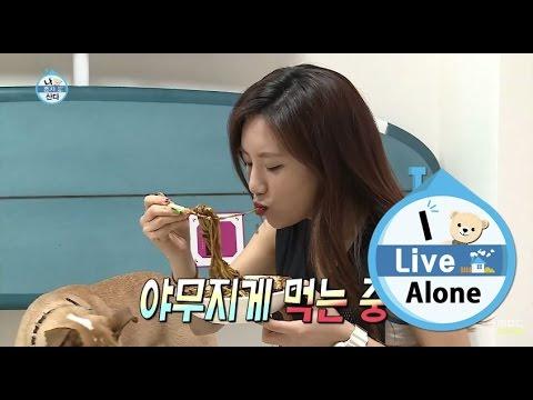 [I Live Alone] 나 혼자 산다 - Ye junghwa ate the Jajangmyeon 예정화, 망설임 없는 짜장면 먹방!  20150605