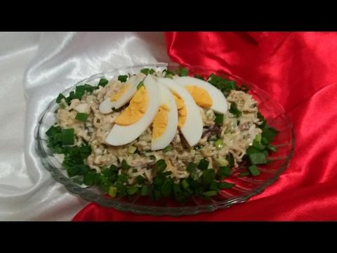 Быстрый салат из шпрот рецепт