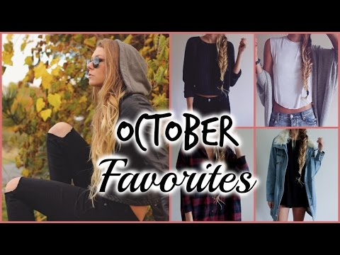 October Favorites!  Beauty Fashion & more!