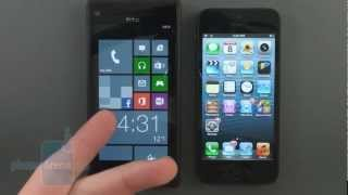 HTC Windows Phone 8X vs Apple iPhone 5