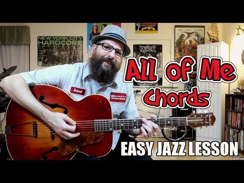 All of Me - Easy Jazz Chord Lesson (Western Swing/Gypsy Jazz)