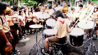 11 years old boy scout played Nightmare from Avenged Sevenfold at school