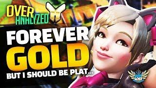 Overwatch Coaching - FOREVER GOLD! 10 Seasons HARD STUCK! D.Va Coaching! [OverAnalyzed]