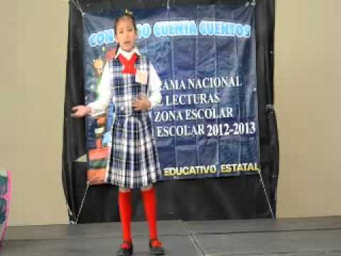 ganadora cuenta cuentos Jose P. Mancillas Zona XII 2013